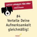 TASSO-Büroschnauzenmonat - Dotty Lifehacks für Bürohundleben